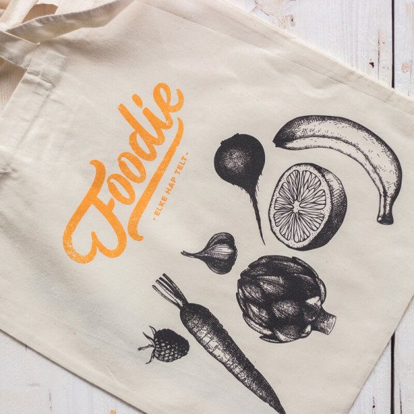 Foodie Katoenen Shopping Bag