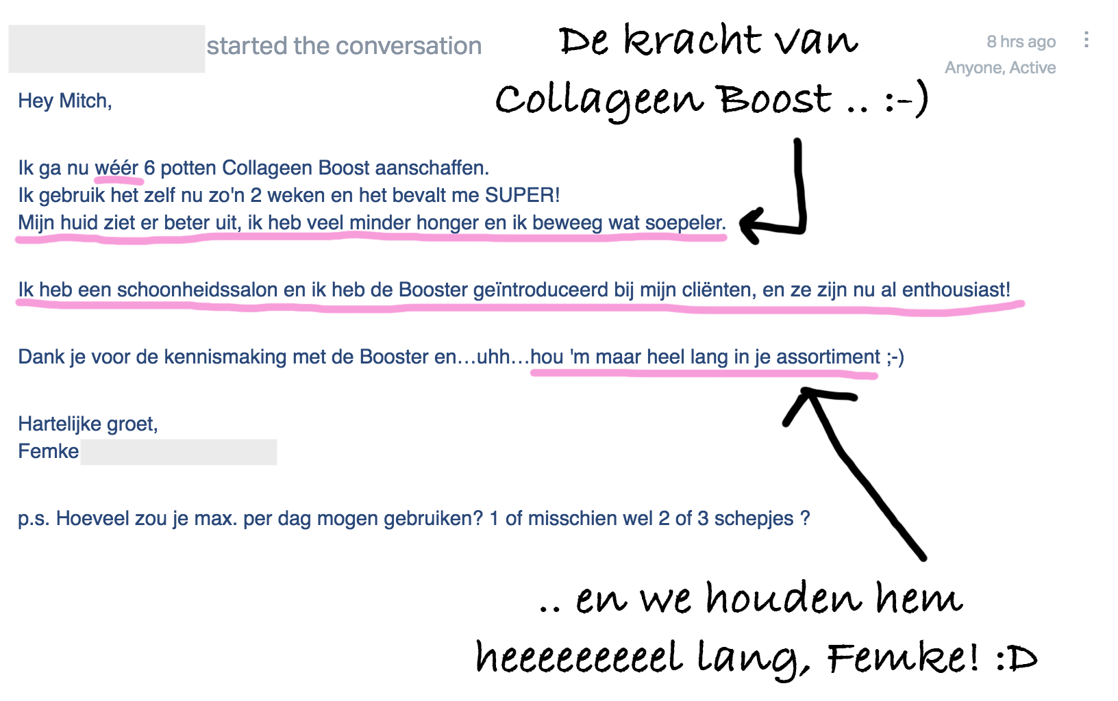 Testimonial Collageen Femke